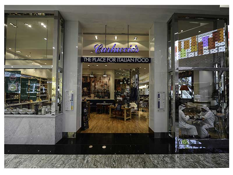 Carluccio's is one of the best places to visit in Dubai as an Italian cuisine