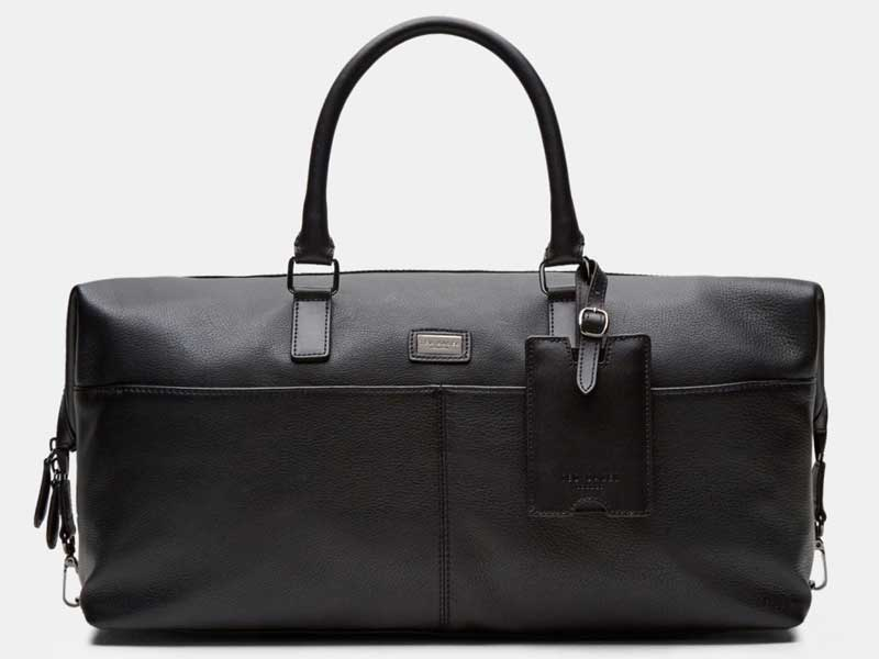 Leather holdall by Ted Baker available at Mall of the Emirates and City Centres