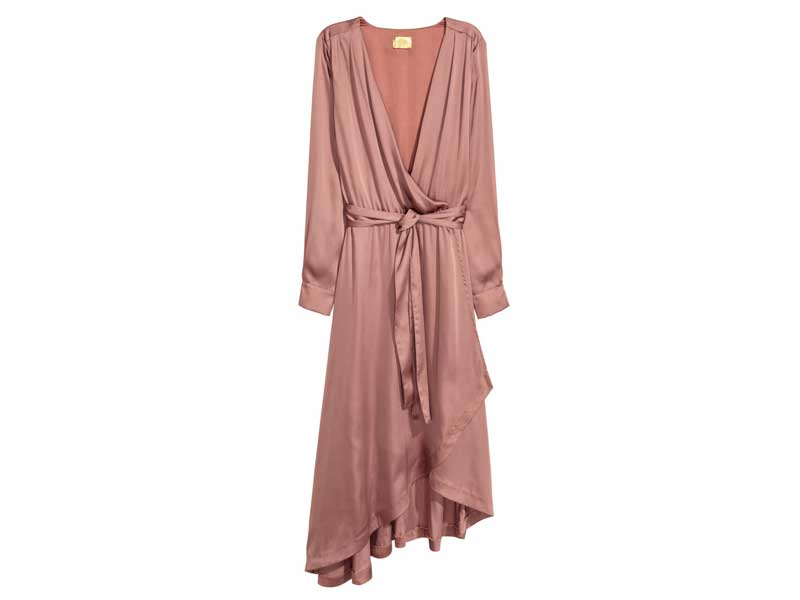 Satin dress by H&M available at Mall of the Emirates and City Centres