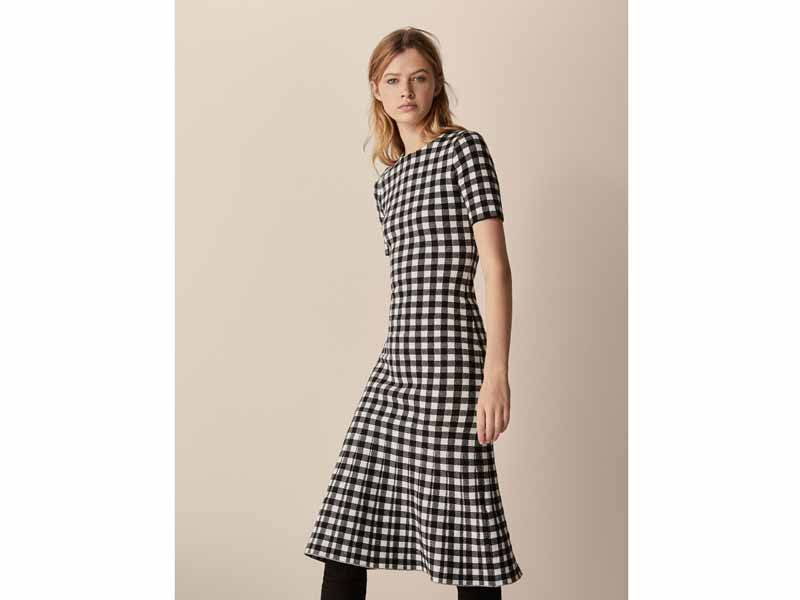 Massimo Dutti Gingham dress Dubai
