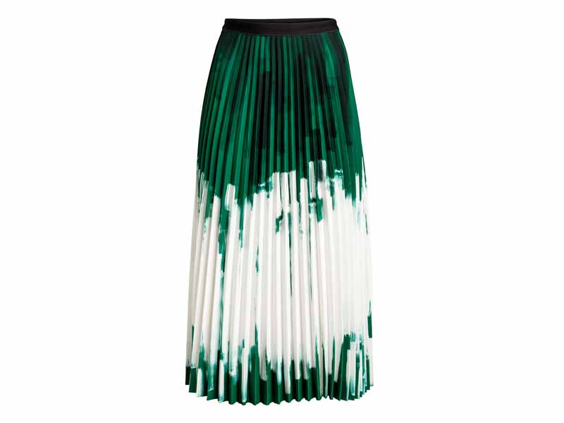 Pleated midi skirt from H&M, Dubai