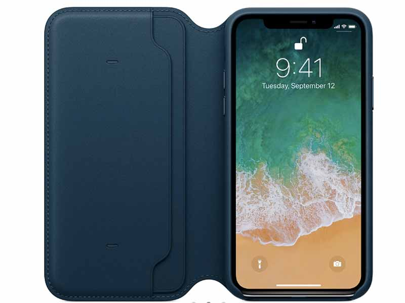 Apple Store Accessories, Leather folio case for iPhone X in Dubai