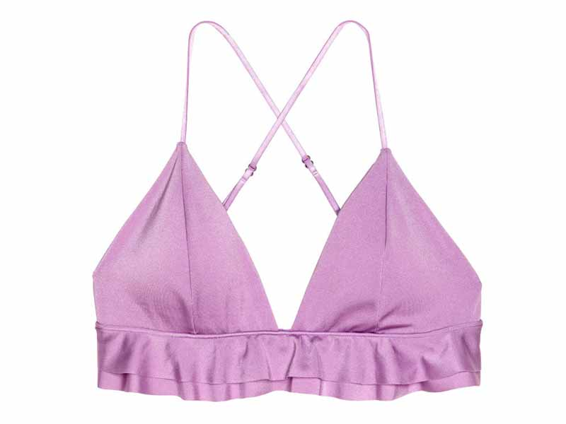 37706e044aaa1 Lilac bikini top by H M available at Mall of the Emirates and Majid Al  Futtaim City