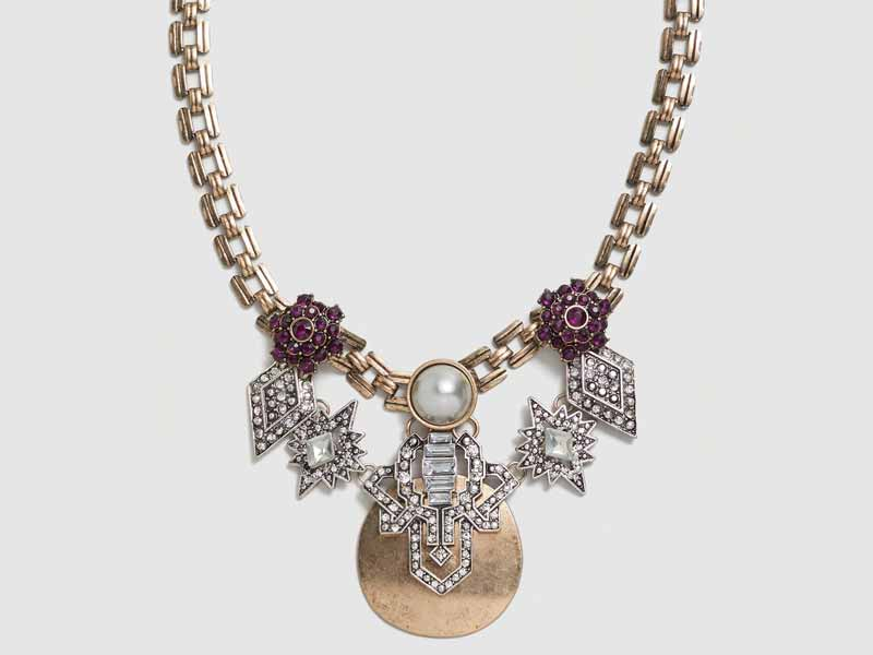 Crystal metal necklace from Dubai Mango