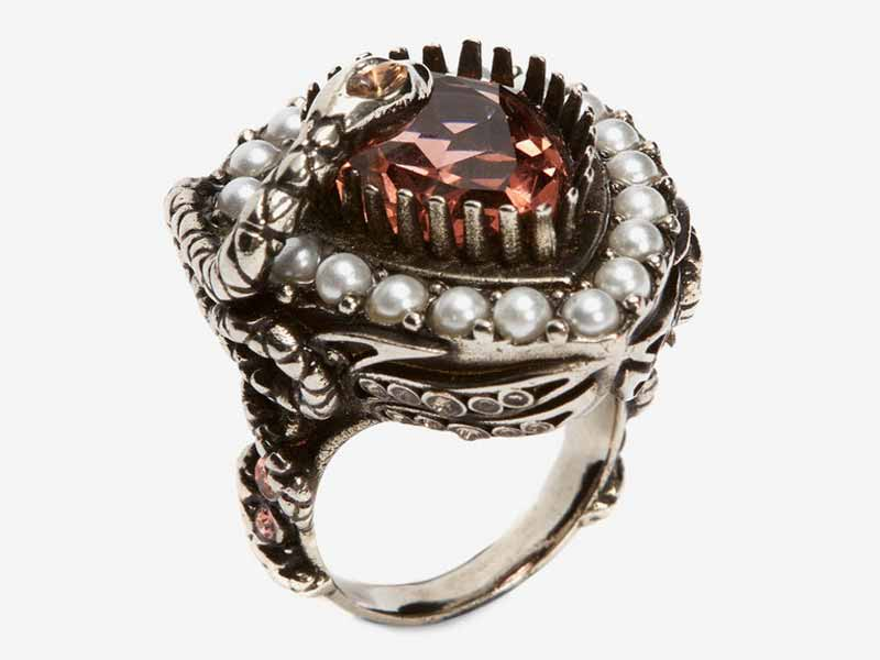 Alexander McQueen's Metal and jewel ring Dubai