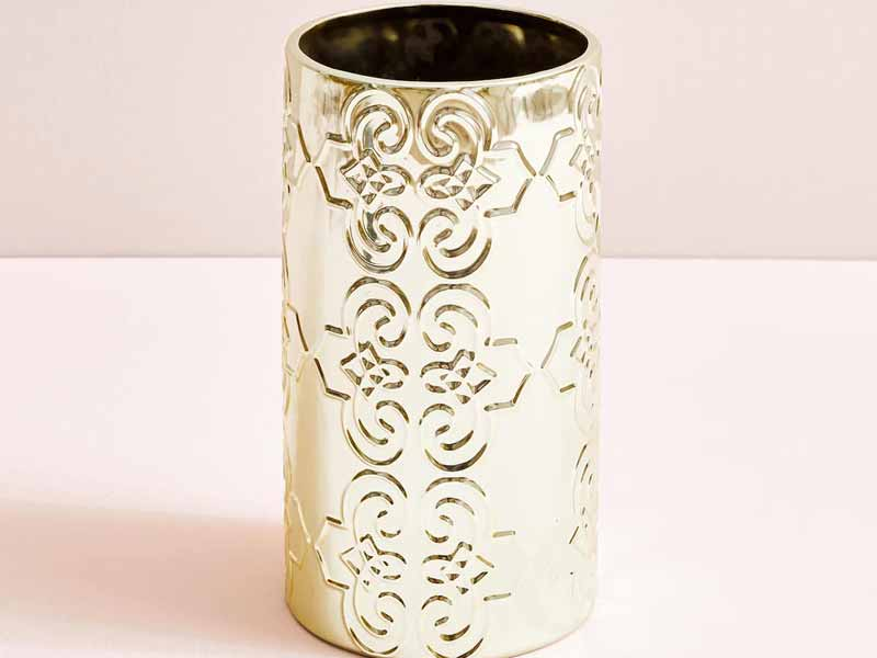 Metallic vase by Zara Home at Mall of the Emirates and Mall of Egypt, plus City Centres