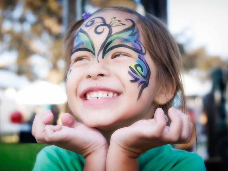 Face painting fun at Magic Planet