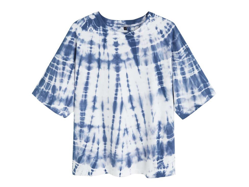 Blue tie-dye T-shirt by Mango at City Centre Mirdif