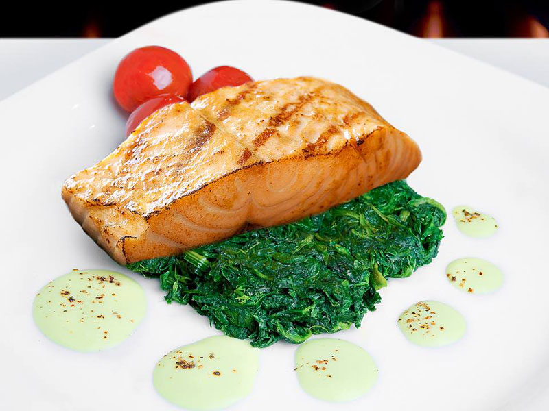 Grilled salmon at La Gaufrette in Dubai