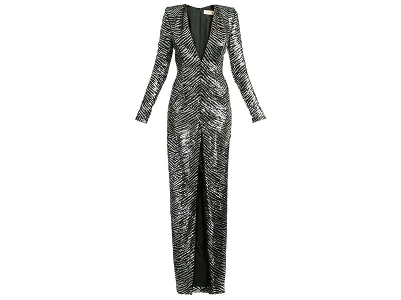 Silver printed ladies' dress by Alexandre Vauthier, at Boutique 1 in Mall of the Emirates