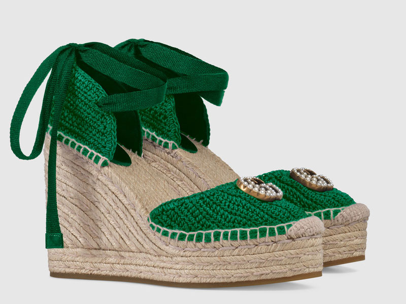 Wedge sandals by Gucci Dubai at Harvey Nichols Dubai, available at Mall of the Emirates