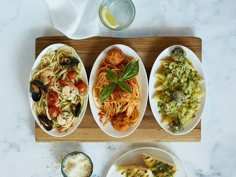 Delicious pasta dishes at Italian restaurant Carluccio's in Dubai