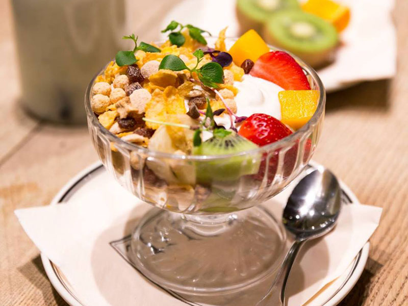Healthy breakfast dishes for a post-workout meal at Paul, in Dubai