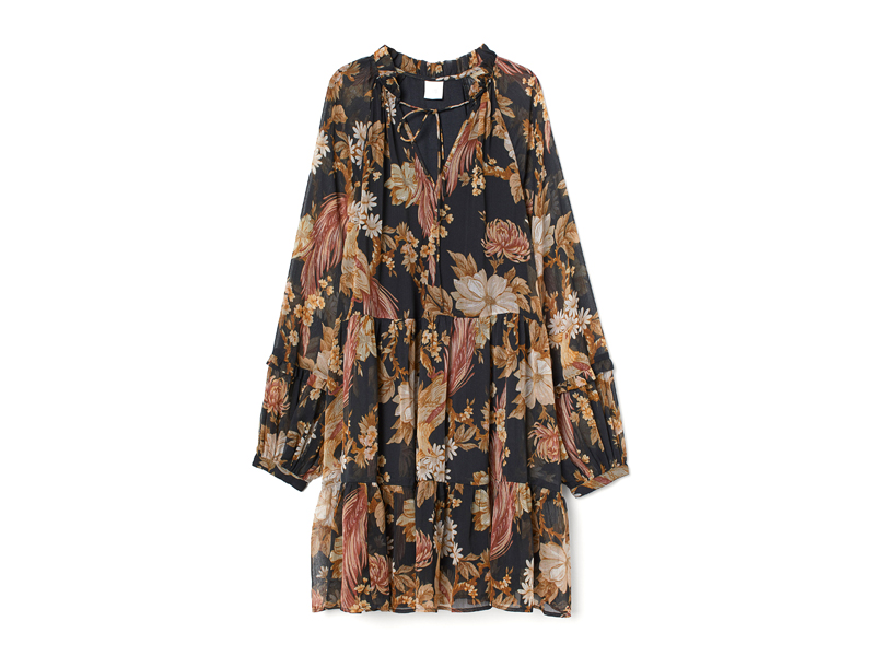 Black floral print dress by H&M available at City Centre Mirdif