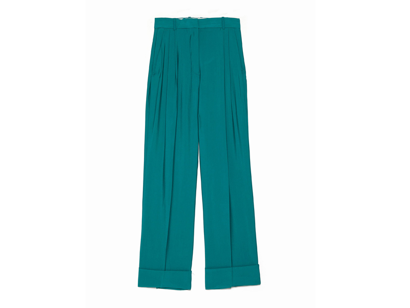 Green tailored trousers by Zara available at City Centre Mirdif