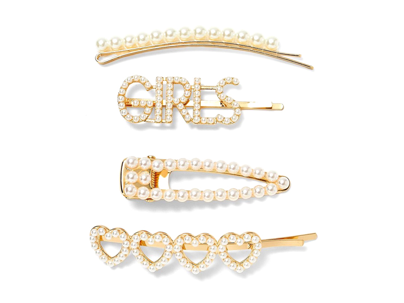Pearl hair slides by Stradivarius available at City Centre Mirdif