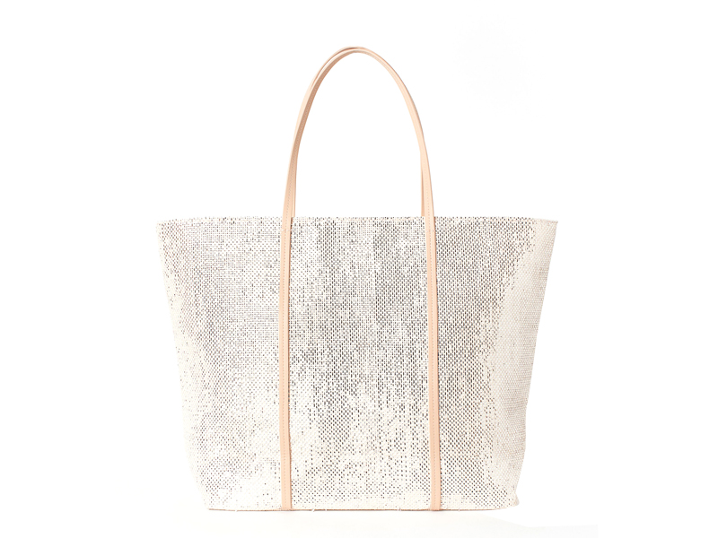Silver straw bag by H&M available at City Centre Mirdif