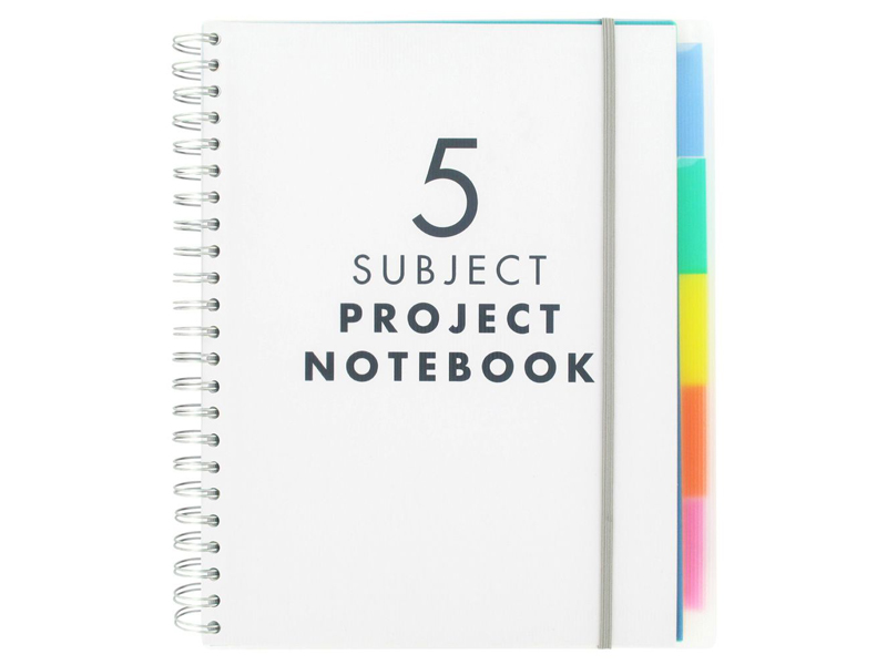 5 Subject A4 Notebooks by Paperchase available at City Centre Mirdif