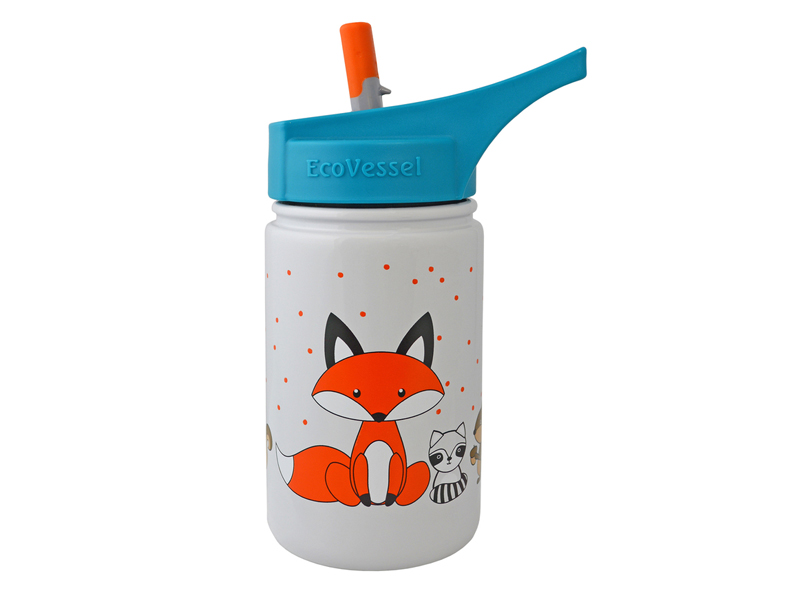EcoVessel Fox Kids' Water Bottle from Virgin Megastore available at City Centre Mirdif