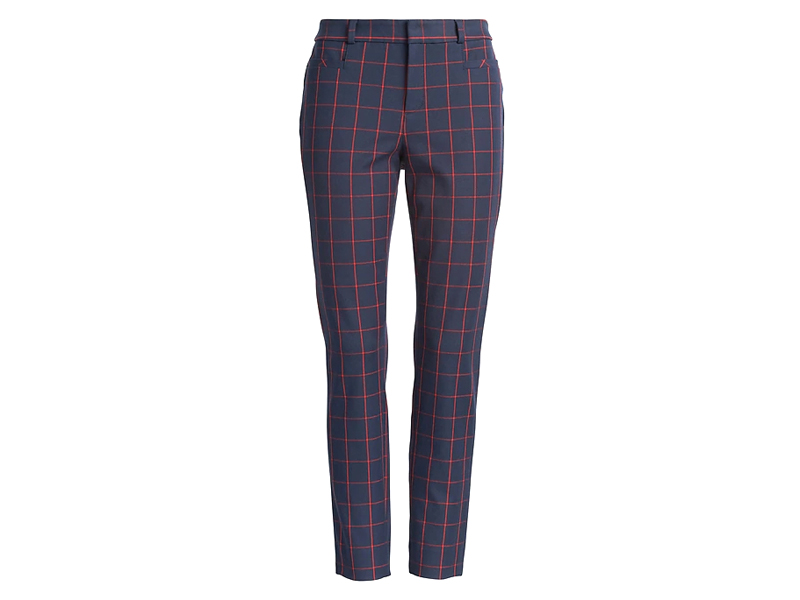 Navy check print trousers by Banana Republic available at City Centre Mirdif