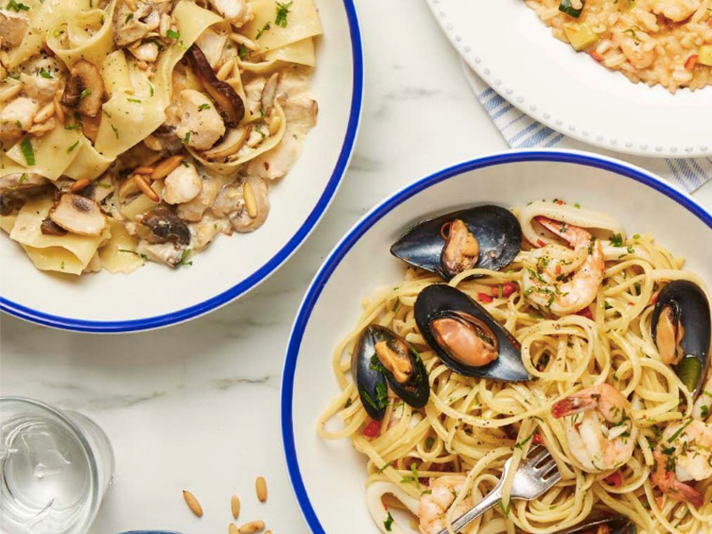 Pasta dishes from Carluccio's, at City Centre Mirdif
