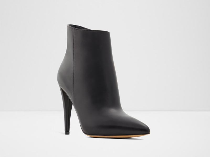 Black heeled booties by Aldo, available at City Centre Mirdif