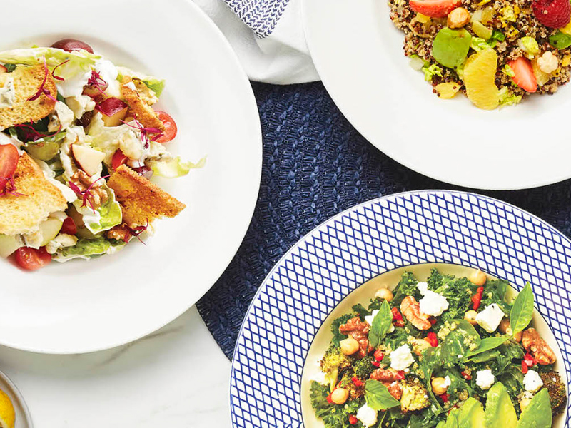 A selection of salads from Carluccio's at City Centre Mirdif