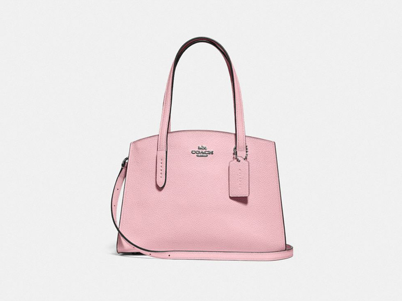 Pink Charlie 28 bag by Coach available at City Centre Mirdif