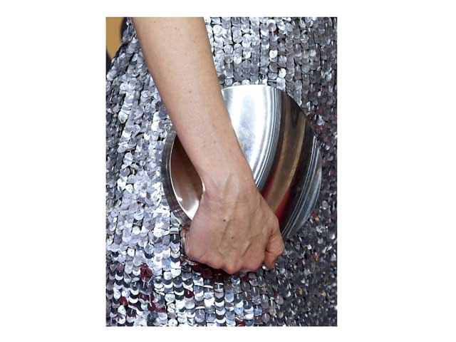 A metallic bag is a great way to finish off any look