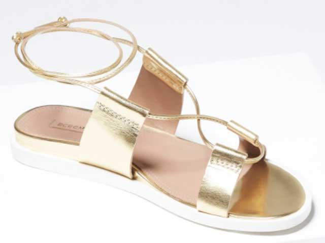 Metallic flats are the comfiest way to sparkle all night.